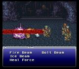 Final Fantasy III SNES Frying the first boss of the game
