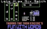 Thomas the Tank Engine's Fun With Words Commodore 64 Mix and Match.