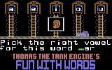 Thomas the Tank Engine's Fun With Words Commodore 64 Letter Fun.