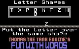 Thomas the Tank Engine's Fun With Words Commodore 64 Letter Shapes.