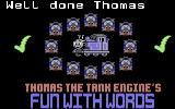 Thomas the Tank Engine's Fun With Words Commodore 64 Well Done Thomas!