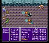 Final Fantasy II SNES Attacked from behind by some nasty machines