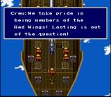 Final Fantasy II SNES The crew is unhappy with Cecil's actions