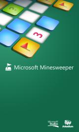 Microsoft Minesweeper Windows Phone Title screen