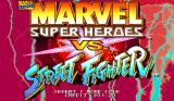 Marvel Super Heroes vs. Street Fighter Arcade Title screen