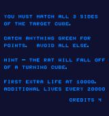 Q*bert's Qubes Arcade Instructions.