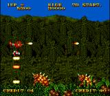 Prehistoric Isle in 1930 Arcade Throw bomb on armored dinos
