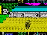 Double Dragon ZX Spectrum Using rock as a weapon