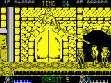 Double Dragon ZX Spectrum Avoiding moving spear