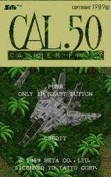 Caliber.50 Arcade Title screen