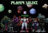 Galaxy Fight: Universal Warriors Arcade Player select