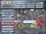 GP vs. Superbike Windows Game setup screen. Here you can select, among other things, the number of players and vehicle type.