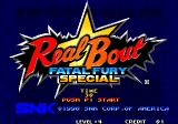 Real Bout Fatal Fury Special Arcade Title screen