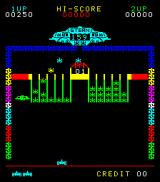 Astro Invader Arcade In the US version UFOs also attack on the sides
