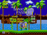 Sonic the Hedgehog Windows 1 stage completed