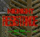 Midnight Resistance Arcade Title screen