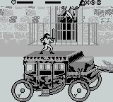 Cutthroat Island Game Boy ride on a coach and fight on the roof