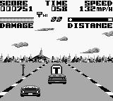 Super Chase H.Q. Game Boy Stage 1 ... T = Turbo.