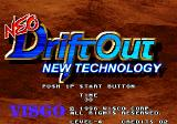 Neo Drift Out: New Technology Arcade Title screen