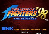 The King of Fighters '98: The Slugfest Arcade Title screen