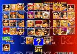The King of Fighters '98: The Slugfest Arcade Team select