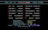 Striker Manager Commodore 64 Main Screen.