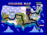 Turbo Out Run FM Towns Course Map