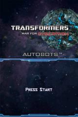 Transformers: War for Cybertron - Autobots Nintendo DS Title screen.