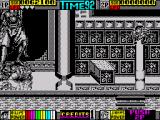Double Dragon II: The Revenge ZX Spectrum ump over the extending obstacle