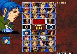 The King of Fighters '99: Millennium Battle Arcade Player select