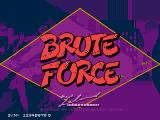 Brute Force Arcade Title Screen.