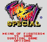 Fatal Fury Special Game Gear Title