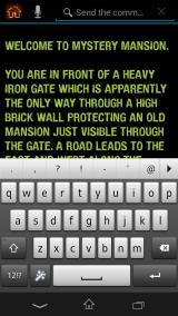 Mystery Mansion Android Optional text entry of other more uncommon words