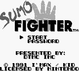Sumo Fighter Game Boy Title screen (US).