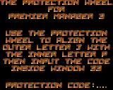 Premier Manager 3 Amiga Code wheel protection