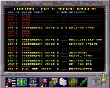 Premier Manager 3 Amiga Timetable schedule