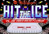 Hit the Ice: The Video Hockey League Arcade Title Screen.