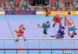 Hit the Ice: The Video Hockey League Arcade Keeper looks upset.