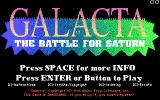 Galacta: The Battle for Saturn DOS Title screen (EGA)