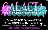 Galacta: The Battle for Saturn DOS Title screen (CGA)
