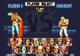 Fatal Fury Special Arcade Character selection screen