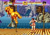 Fatal Fury Special Arcade Getting burned by Mai Shiranui