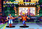 Fatal Fury Special Arcade The stage itself, with Duck King walking towards Billy Kane