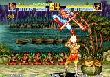 Fatal Fury Special Arcade Joe Higashi's stage - Billy Kane attacking from above