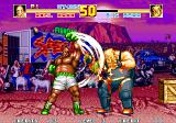 Fatal Fury Special Arcade These two don't need to make themselves bigger - Axel Hawk punching Big Bear