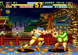 Fatal Fury Special Arcade Cheng Sinzan getting hit by Wolfgang Krauser