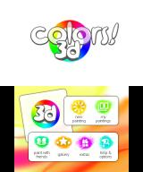 Colors! 3D Nintendo 3DS Main menu
