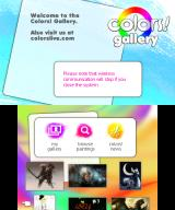 Colors! 3D Nintendo 3DS Main gallery page