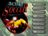 VR Soccer '96 SEGA Saturn Main menu.