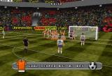 VR Soccer '96 SEGA Saturn Enemy team players are really rubbing it in when they score a goal.